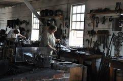 Blacksmith in Colonial Williamsburg, Virginia Stock Images