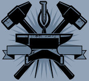 Blacksmith Crest Royalty Free Stock Image