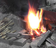 Blacksmith forge Stock Image