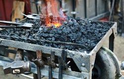 Blacksmith forge Stock Image