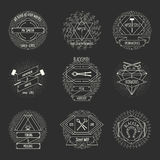 Blacksmith and forging logo or emblem vintage Royalty Free Stock Photo