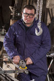 Blacksmith in his workshop Stock Photography