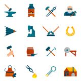 Blacksmith Icon Flat Royalty Free Stock Image