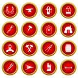 Blacksmith icon red circle set Stock Photography