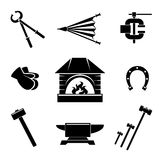 Blacksmith icons Royalty Free Stock Photo