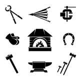 Blacksmith ikony ilustracja wektor