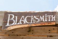 Blacksmith inscription Royalty Free Stock Photography