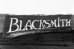 Blacksmith inscription Stock Photos