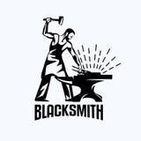 Blacksmith isolated vector symbol Stock Photos