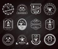Blacksmith Label Chalkboard Stock Images