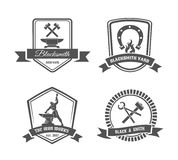 Blacksmith labels Royalty Free Stock Images