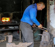 Blacksmith in liujiang town,sichuan,china Royalty Free Stock Photography