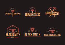 BlackSmith logos set Royalty Free Stock Image