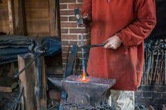 Blacksmith at Mount Vernon Royalty Free Stock Images