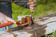 Blacksmith narzędzie obraz stock