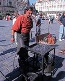 Blacksmith in the Old Square, Prague. Royalty Free Stock Photo