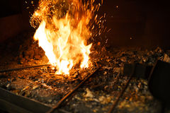 Free Blacksmith Oven Fire Royalty Free Stock Image - 97930766