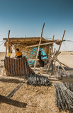 Blacksmith place in desert Royalty Free Stock Photo