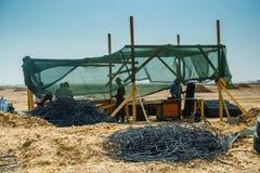 Blacksmith place in desert Stock Photos