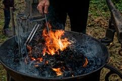 blacksmith praca Obrazy Royalty Free