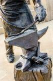 Blacksmith rzeźba obraz stock