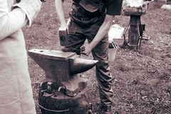 Blacksmith`s craft Stock Image