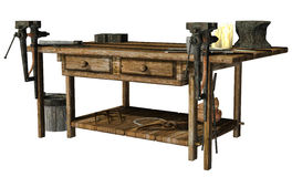 Blacksmith's table Stock Image
