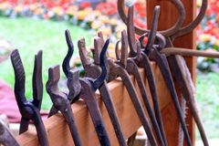 Blacksmith's tools Stock Photography