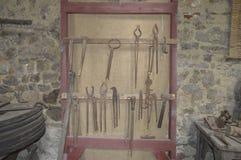 Blacksmith`s tools. Stock Photo