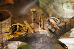 Blacksmith's Tools Royalty Free Stock Photography