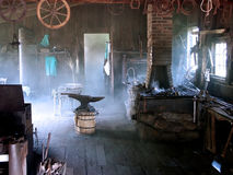 Blacksmith Shop. In the morning Stock Photo