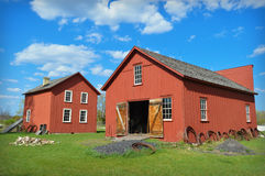 Blacksmith Shop and Carriage Shop. At Old World Wisconsin in Eagle, WI Royalty Free Stock Photos
