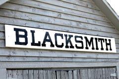 Blacksmith Shop. In a historical village Stock Photo