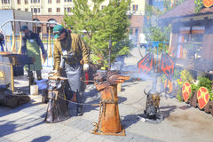 Blacksmith on the Theater Square Royalty Free Stock Images
