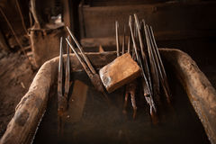 Blacksmith tools royalty free stock photos