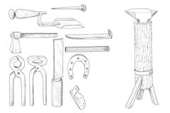 Blacksmith tools Stock Images