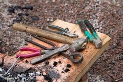 Blacksmith tools Royalty Free Stock Photography
