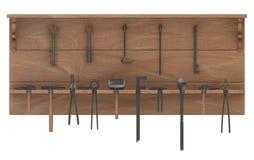 Blacksmith tools on shelf Royalty Free Stock Image