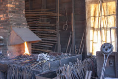At the blacksmith Stock Image