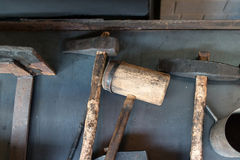Blacksmith tools Royalty Free Stock Images