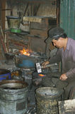 Blacksmith in town royalty free stock images