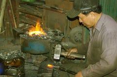 Blacksmith in town Royalty Free Stock Photo