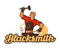 Blacksmith vector logo. anvil, smithy icon Royalty Free Stock Photos