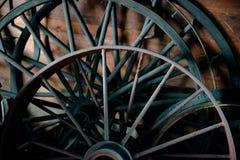 Blacksmith Vintage Wheel Wagon Background Royalty Free Stock Photos