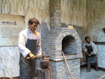 Blacksmith Wax figure Royalty Free Stock Images