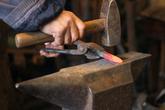 Blacksmith at work Royalty Free Stock Image