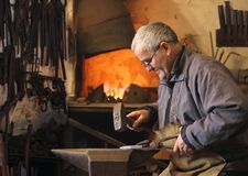 Blacksmith at work royalty free stock photography