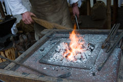 Blacksmith at work Stock Image