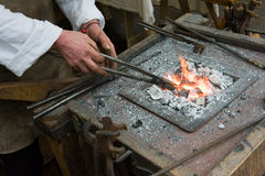 Blacksmith at work Royalty Free Stock Images