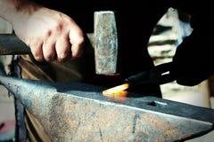 Blacksmith at work Royalty Free Stock Photography